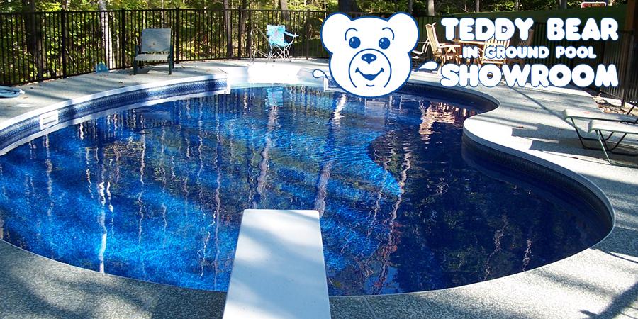 In ground pool showroom teddy bear pools and spas for Pool showrooms