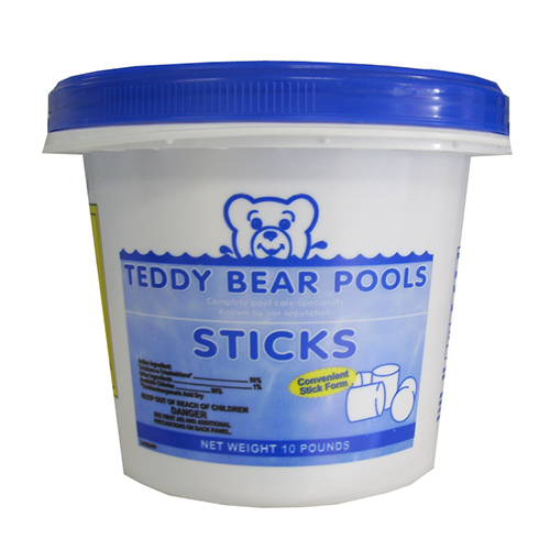 Chlorine Sticks For Swimming Pool 10lb Teddy Bear Pools And Spas