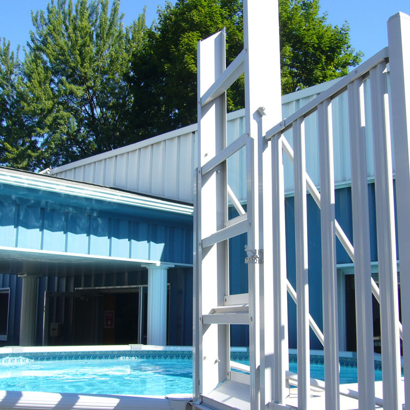 Flip Up Deck Ladder Taupe Teddy Bear Pools And Spas