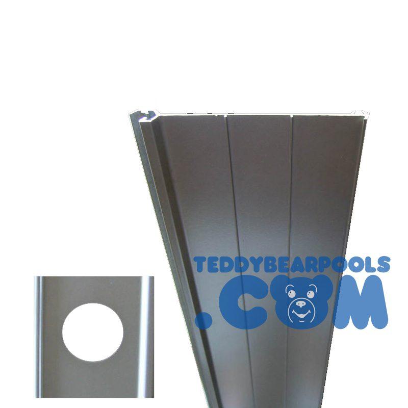 Return Slat For Extruded Aluminum Interlocking Walls 52
