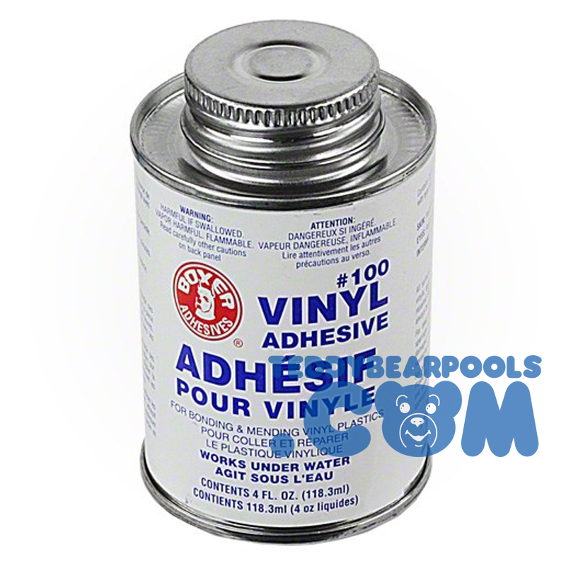 Boxer Adhesives Vinyl Repair Adhesive 4 Ounce Teddy Bear Pools And Spasteddy Bear Pools And Spas