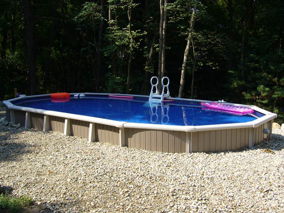 semi in ground pool