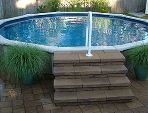 how to install steps in a inground pool