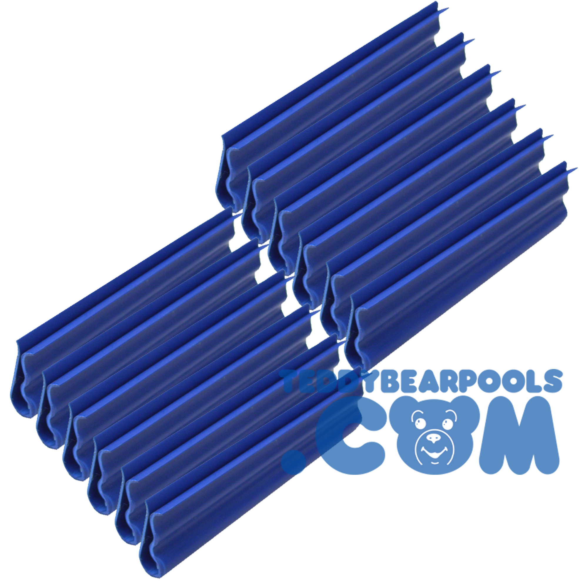 Teddy bear cover clips for above ground pool cover 12 pack teddy bear pools and spas for Swimming pool winter cover clips