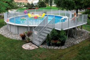 Landscaping After You Install An Above Ground Pool Teddy