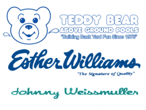Esther Williams Pools, Johnny Weissmuller pools, Teddy Bear Pools