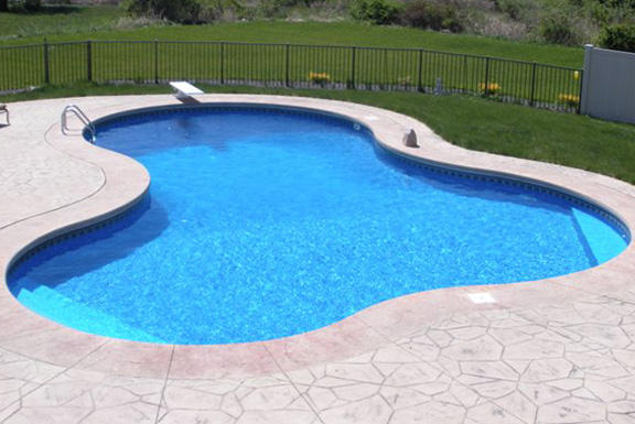 Lake series in ground pools teddy bear pools and spas for Vermiculite swimming pool base