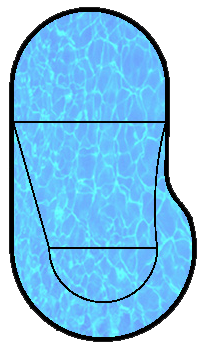 Oblique pool shape