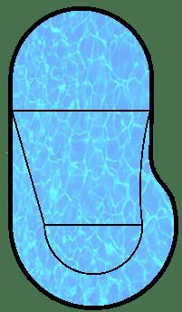 Oblique pool shape