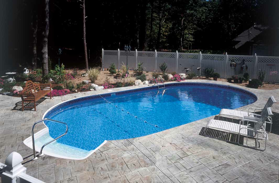 Lake series in ground pools teddy bear pools and spas for Pictures of small inground pools