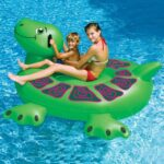 Giant sea turtle float