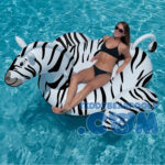 Pool Giant Zebra Ride-On