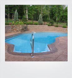 Polaroid frame in ground pool