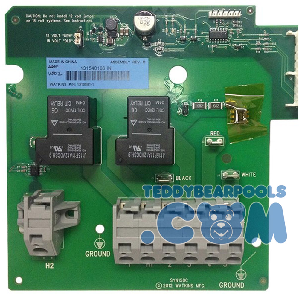 Hot Springs Heater Relay Board 77119 (Formerly 74618) IQ 2020 Watkins on