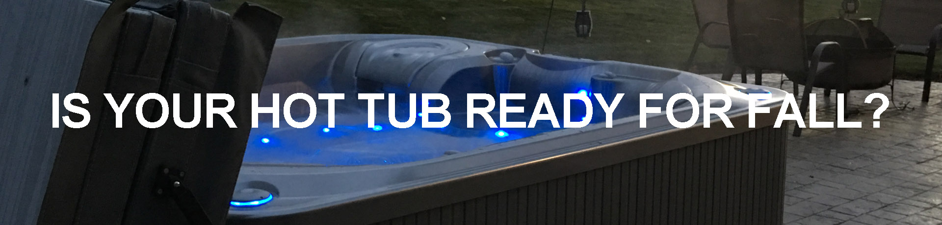 hot tub ready for fall