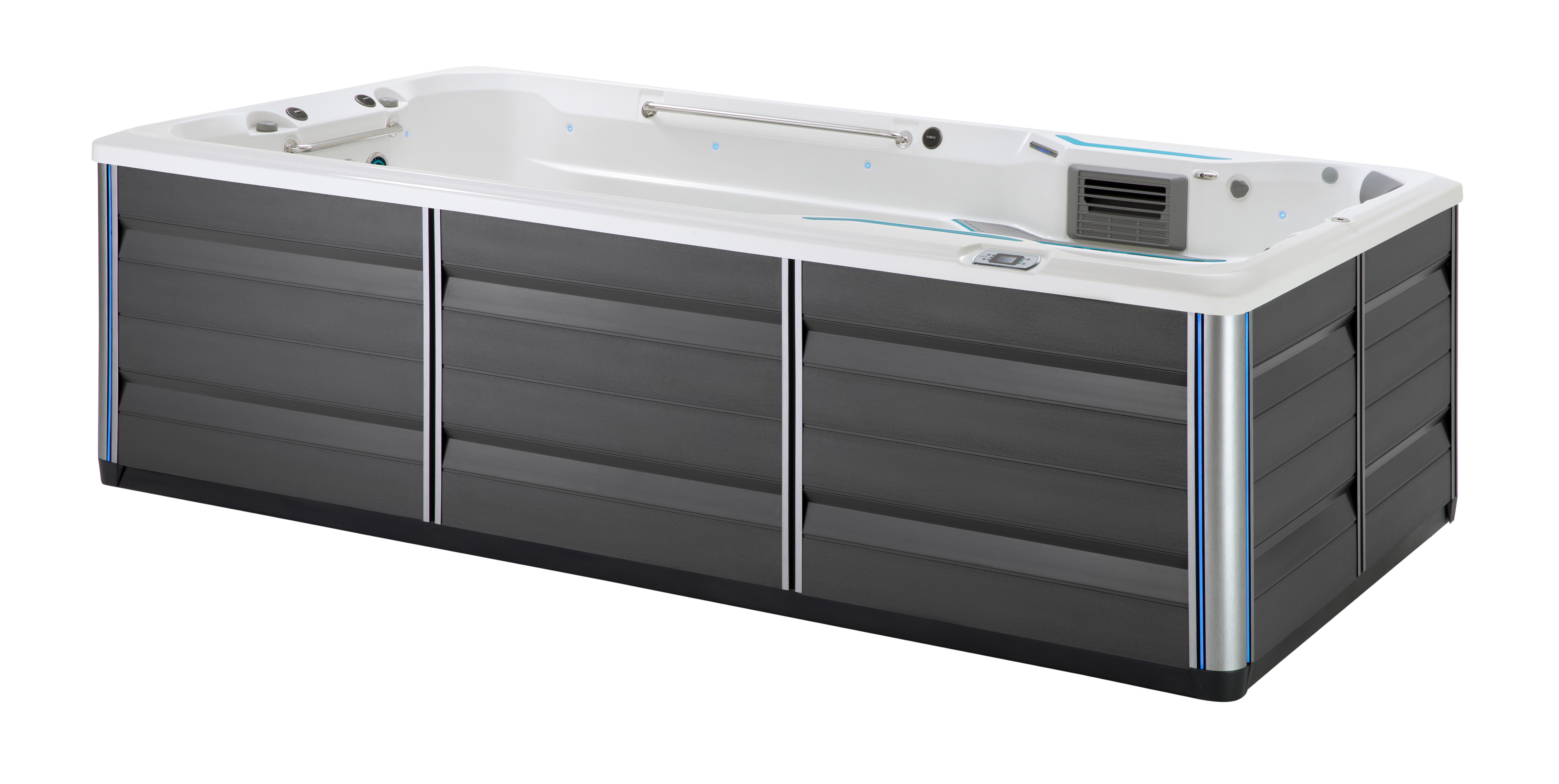 Endless Pools SwimCross 2020 X500 Alpine White Gray studio image