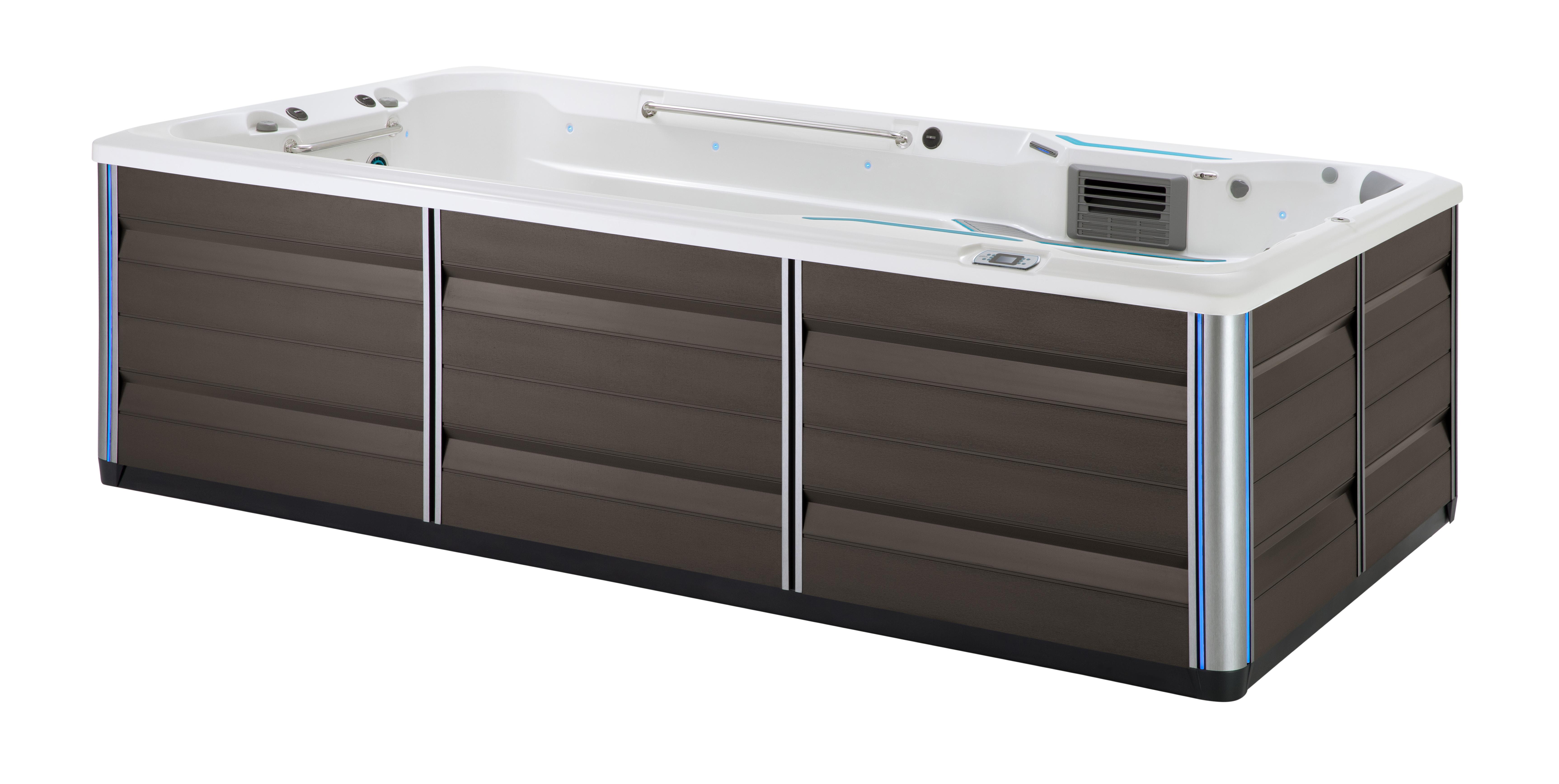 Endless Pools SwimCross 2020 X500 Alpine White Mocha lifestyle image