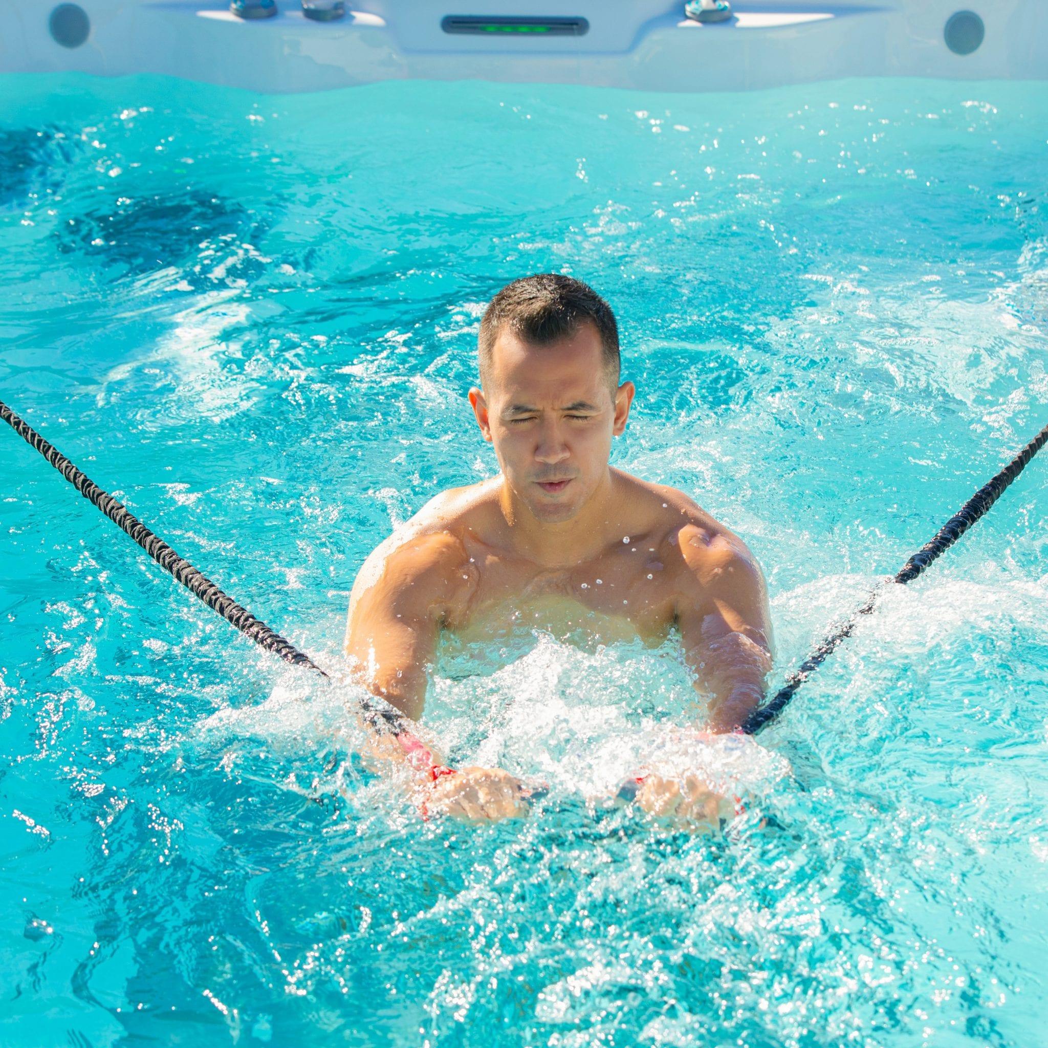 Endless Pools RecSport R500 2020 Alpine White Mocha lifestyle image