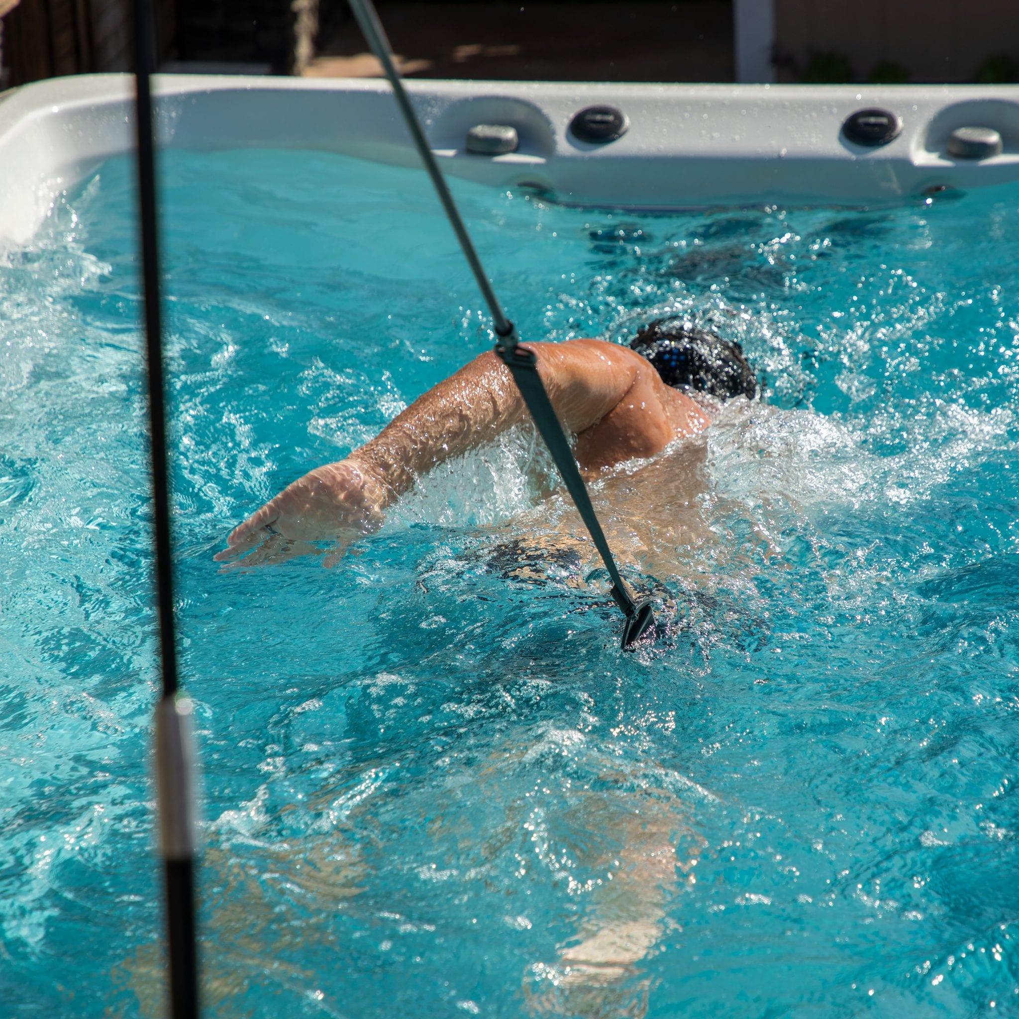 Endless Pools SwimCross 2020 X500 Alpine White Gray lifestyle image