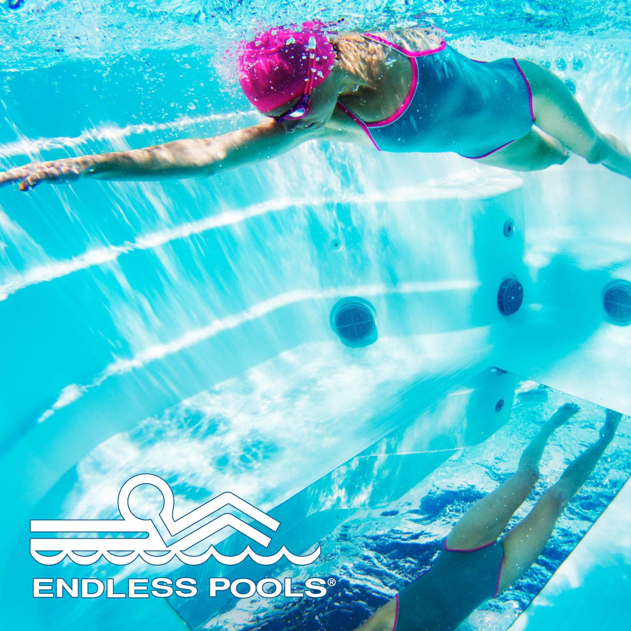 Endless Pools SwimCross X200 Lifestyle - Underwater - woman swimming
